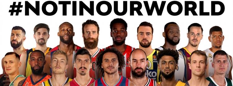Not in our World: Το αντιρατσιστικό μήνυμα των παικτών της Euroleague (vid)