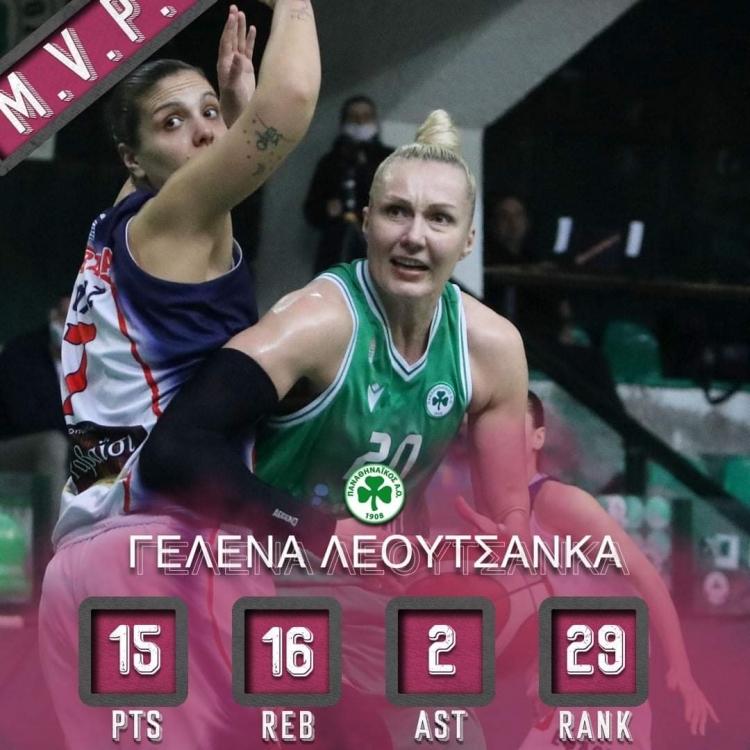 Α1 Γυναικών: MVP η Λεουτσάνκα